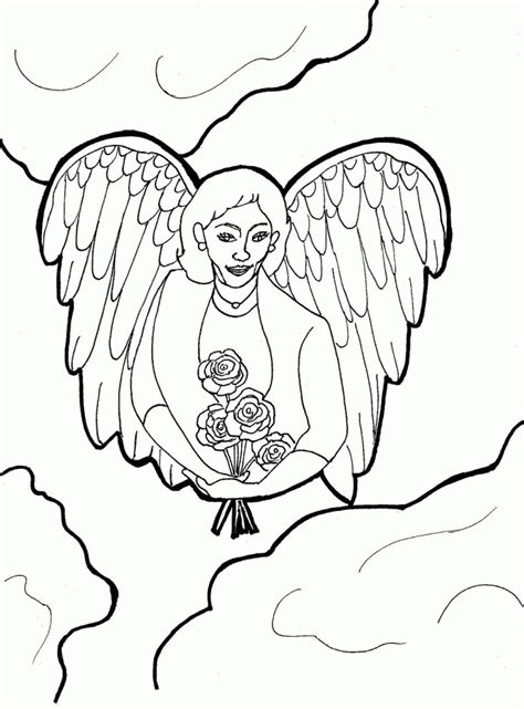 coloring pages for adults angels angel coloring pages for adults coloring home