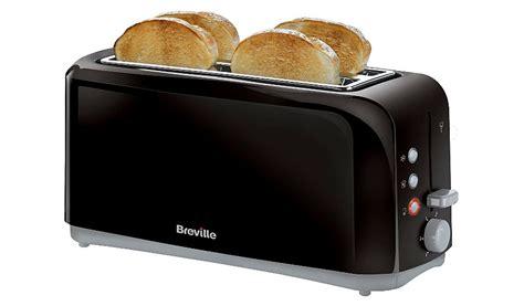 Breville Vtt233 Black 4 Slice Toaster breville 4 slice toaster vtt233 4 slice black home garden george at asda