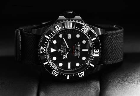 black rolex black rolex deepsea dlc pvd custom watch