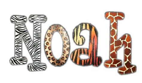 printable jungle letters wild animal print wooden wall letters kids decorating