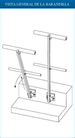 barandilla encima de la cornisa crucigrama barandillas aluminio gama gardal modelos horizal