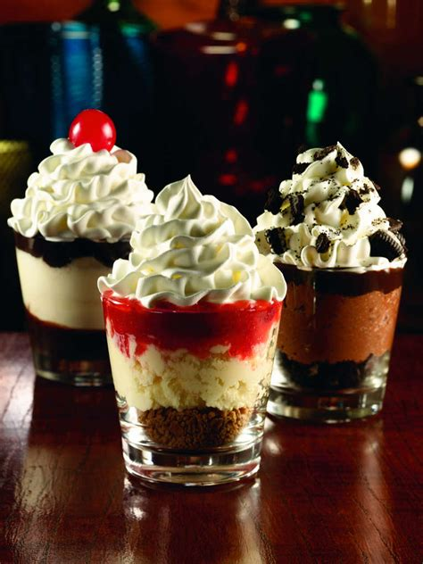 applebees dessert shooters mini desserts served in shot glasses picture to pin on pinterest