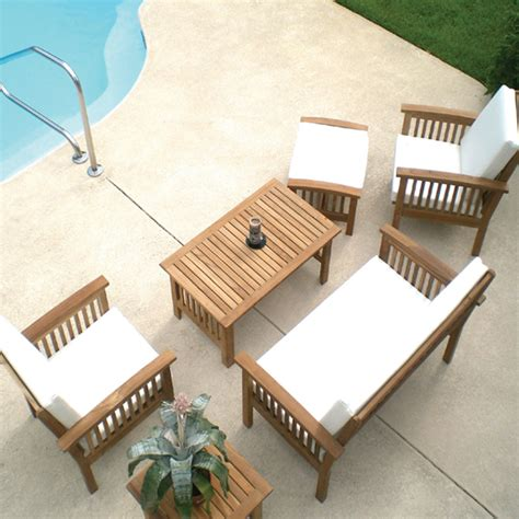 Teak Patio Furniture Cushions Roselawnlutheran Teak Patio Furniture Sets