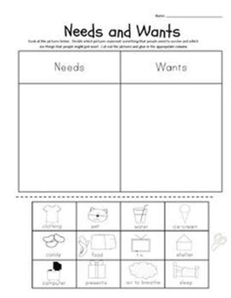 card sort activity template i can sort needs and wants picture worksheet