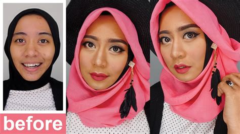 Tutorial Makeup Natural Inivindy | one brand makeup tutorial wardah makeup pesta natural