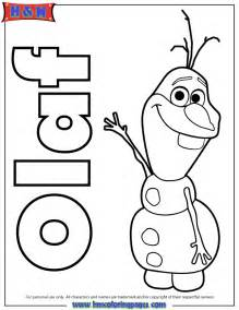 Olaf the snowmane colouring pages