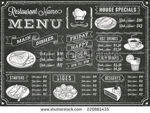 snack bar menu template a vector template chalkboard menu for restaurant and