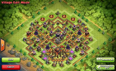 coc base layout th10 gambar town hall 10 base layouts dengan 275 walls terbaru