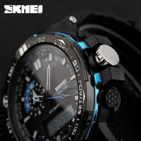 Murah Jam Tangan Pria Skmei Solar Sport Led Water Resist 50m Dg1126 skmei jam tangan sport pria ad1081 black blue jakartanotebook