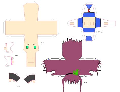 Papercraft Anime Templates - yuri papercraft template by yaochina on deviantart