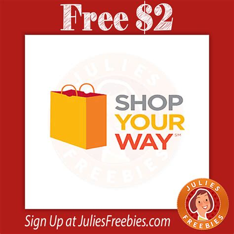 Shop Your Way Rewards Instant Win - free 2 at kmart or sears with syw julie s freebies