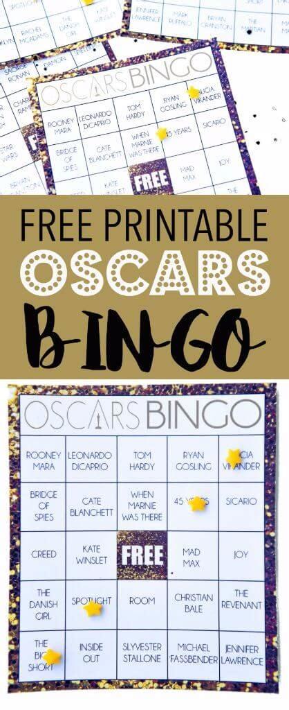 Printable Oscar Bingo Cards
