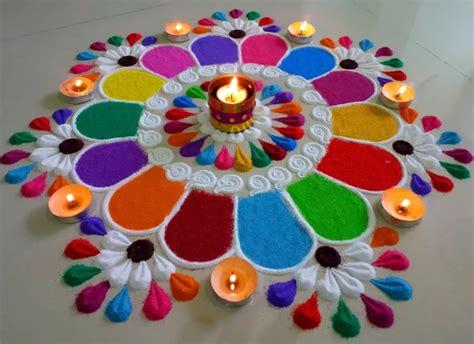 Diwali Decorations At Home Colourful And Innovative Diwali Special Rangoli Design