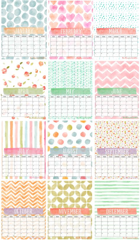 Printable Photo Calendar Template by I Should Be Mopping The Floor Free Printable Photo