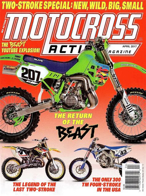motocross action two stroke test what it s like to ride the kx500 beast