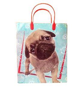 pug gift bag large blue pug puppy gift bag i pugs