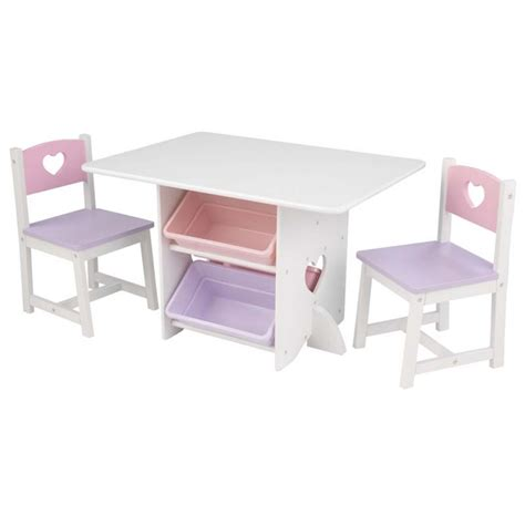 kid craft table table chair set pastel bins kidkraft