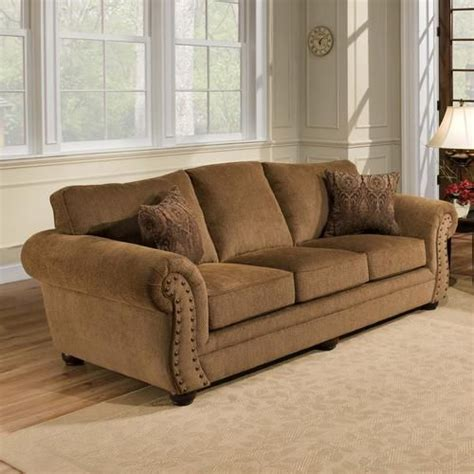 Simmons Upholstery by Simmons Upholstery Troy Bronze Chenille Sofa Furniture