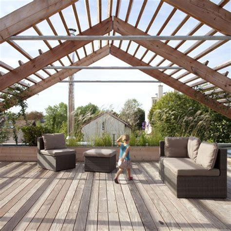 house plans with roof deck terrace sophisticated paris home boasts suspended rooftop garden