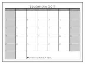 Calendrier Septembre 2017 Calendriers Septembre 2017 Ds
