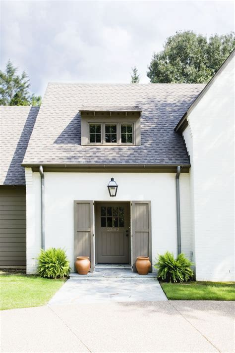 white house grey trim house color combination white house grey trim french houses pinterest