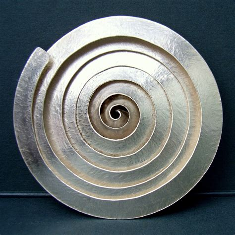 Metal Brooch spiral silver brooch contemporary brooches by