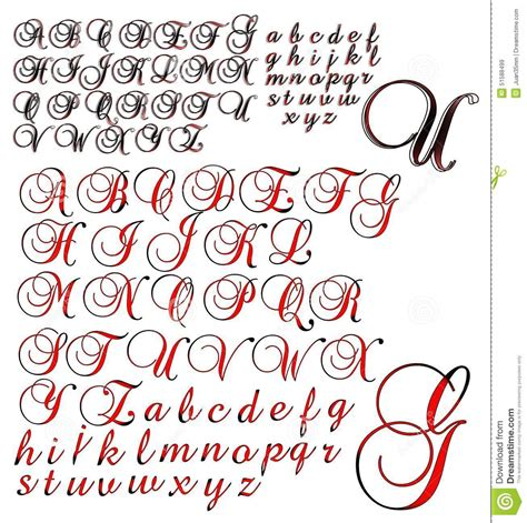 abc alphabet lettering design brock 2 combo stock
