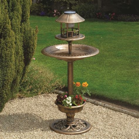 solar light bird feeder greenhurst bird bath feeder with solar light planter