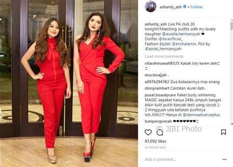Lipstik Ashanty instagram artis amboi ashanty aurel adu cantik hiburan