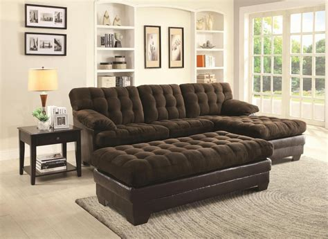 Coaster 503878 Brown Fabric Sectional Sofa Steal A Sofa