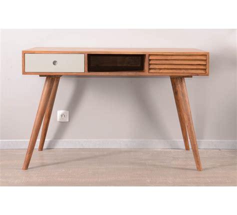 bureau d 馗olier vintage bureau scandinave 2 tiroirs et une niche vintage grey