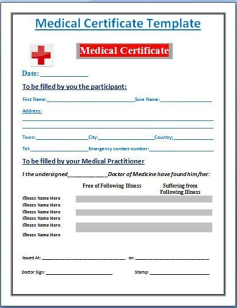 medical certificate free download pdf format doctor medical