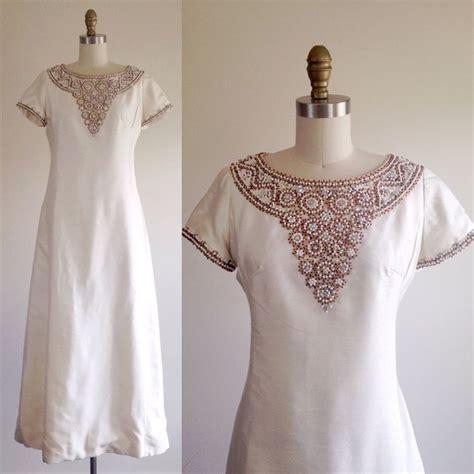beaded bohemian wedding dress beaded wedding dress formal gown 1960s dress formal