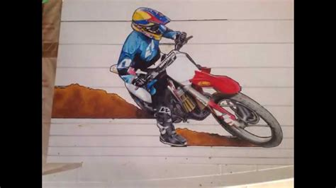 how to draw a motocross bike ilustracion de una moto de motocross drawing a dirtbike