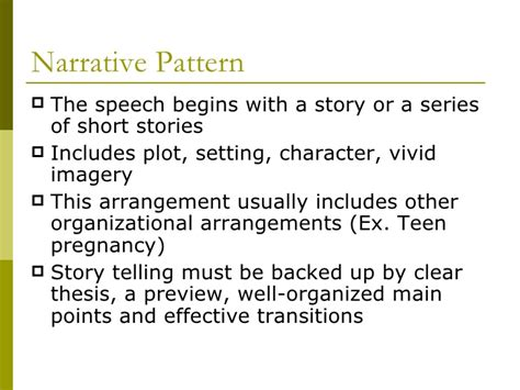 Narrative Pattern Definition | chapter 12 types of organizational arrangements