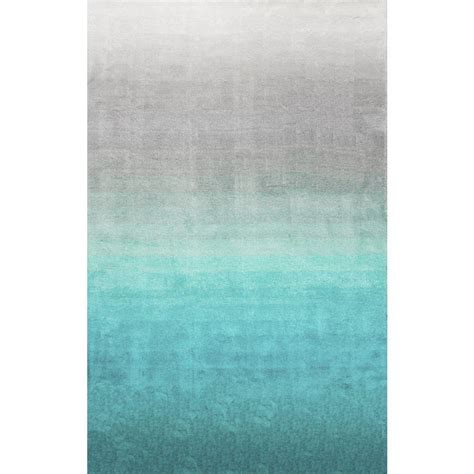 ombre area rugs nuloom ombre shag turquoise 8 ft x 10 ft area rug hjos02a 8010 the home depot