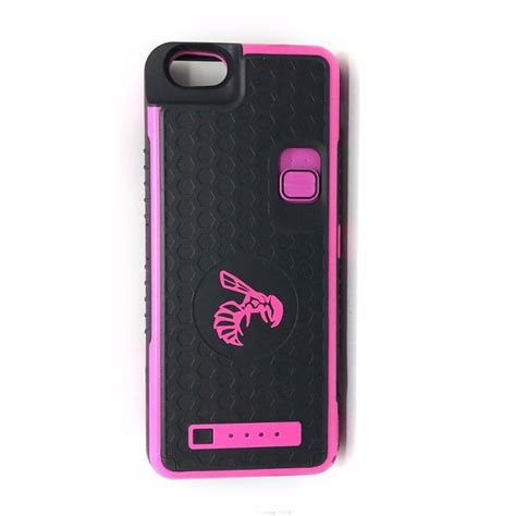pink iphone 6 6s yellow jacket battery stun gun for iphone yellow jacket