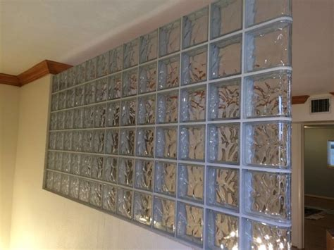 Glass Block Room Divider Glass Block Partition Modern Screens And Room Dividers New York By Eastern Glass Block