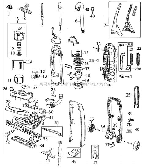 bissell vacuum parts diagram bissell 3750 parts list and diagram ereplacementparts