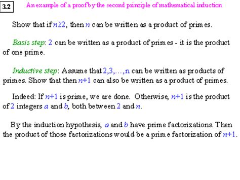 principle of induction proof an exle of a proof by the second principle of mathematical induction