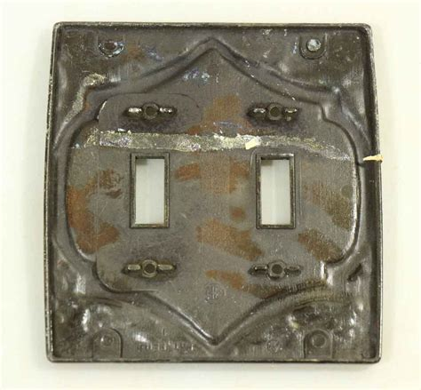 Antique L Switches by Antique Ornate Metal Switch Plate Olde Things