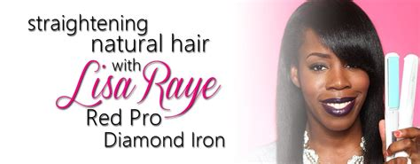 lisa rinna flat irom flat ironing my natural hair x lisa raye s red pro diamond