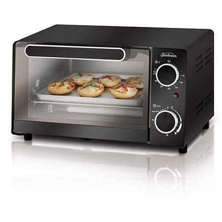 toasters at walmart sunbeam 4 slice toaster oven black walmart