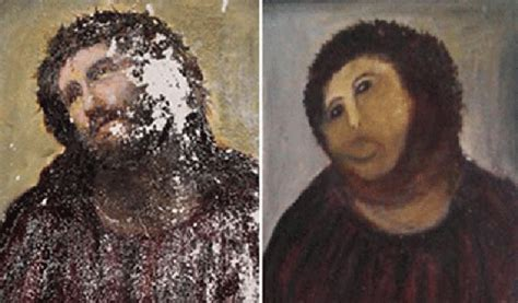 ecce homo spanish edition 1539652734 amateur restoration botches jesus fresco in spain public radio international