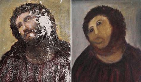 ecce homo spanish edition amateur restoration botches jesus fresco in spain public radio international