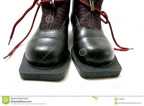 boots running time boot for running skis royalty free stock photo image