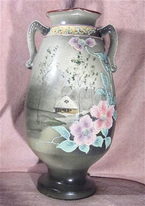Nippon Vase Marks by Painted Nippon Green Eco Moriage Vase From