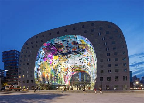 markthalle rotterdam a spectacular 36 000 sq ft mural decorates this newly
