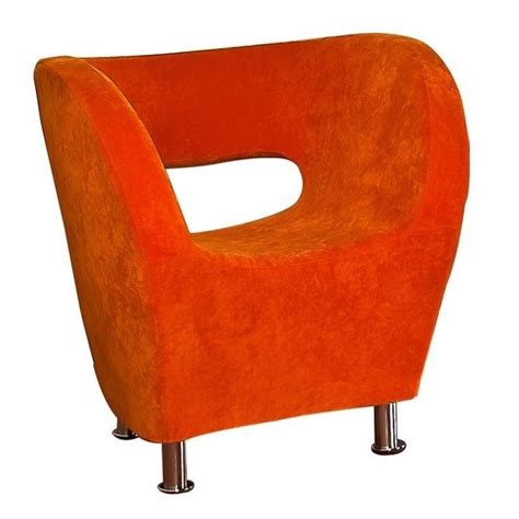 Orange Club Chair by Trent Home Colleen Upholstered Accent Club Chair In Orange