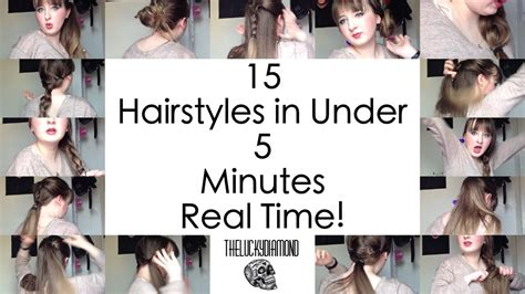 hairstyles to do in 5 minutes cute easy 5 minute hairstyles for school hair